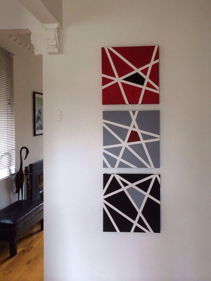 25 best masking tape art ideas on pinterest easy canvas art masking tape wall and diy art. Black Bedroom Furniture Sets. Home Design Ideas