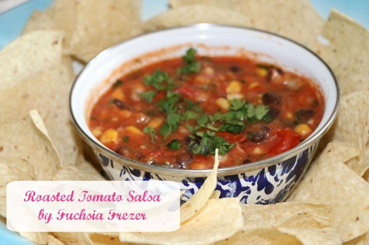 Roasted Tomato Salsa - Easy & Delicious! Fresh Tasting! - www.fuchsiafreezer.ca