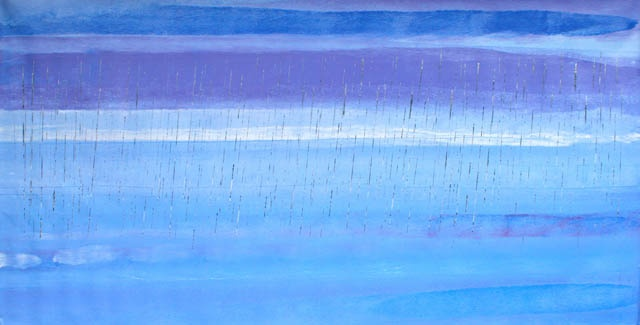 Stinging Rain... Wer Rocky Point synthetic polymer paint on canvas 120 x 240 cm $19,000