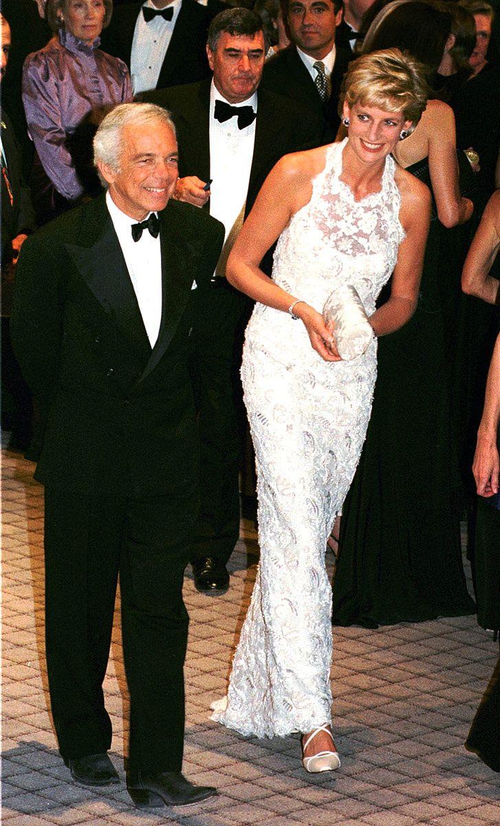 Ralph Lauren y la Princesa Diana.