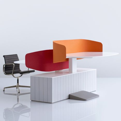 Locale Office Furniture by Industrial Facility for American design brand Herman Miller at Neocon.