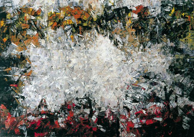 Jean Paul Riopelle, Poussière de soleil, 1953-1954, huile sur toile, 270 x 345 cm