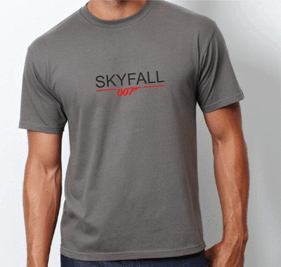 James Bond 007 SKYFALL T-shirt - White or Charcoal - All sizes | eBay