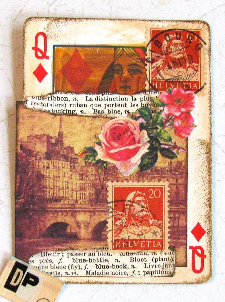 Playing card collage