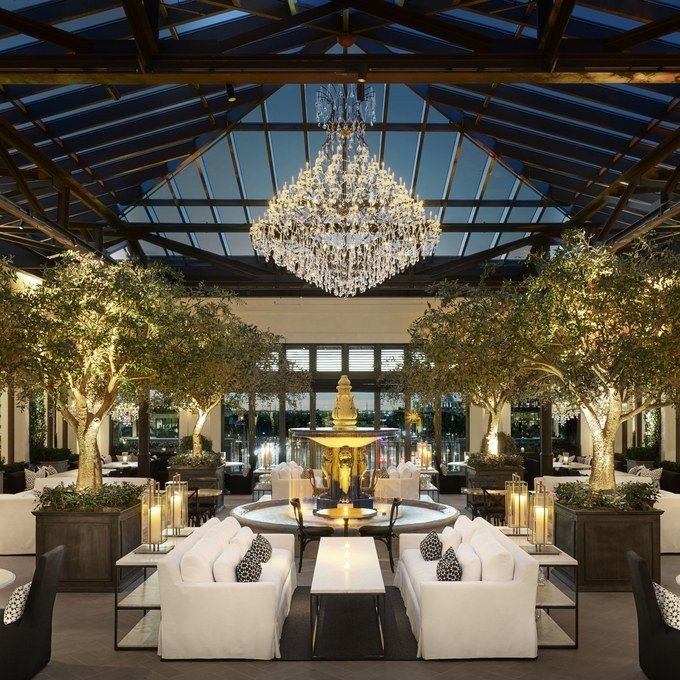 This Massive New Furniture Store Includes A Wine Bar Garden Coffee Shop And Rooftop Cafe Rooftop Restaurant Restoration Hardware Palm Beach Florida