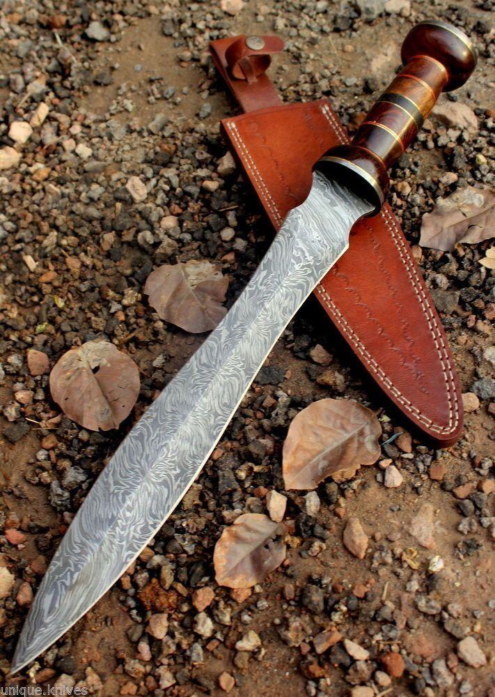 Damascus Steel Sword Dagger Knife Handmade - 20.00 Inches #Damascus