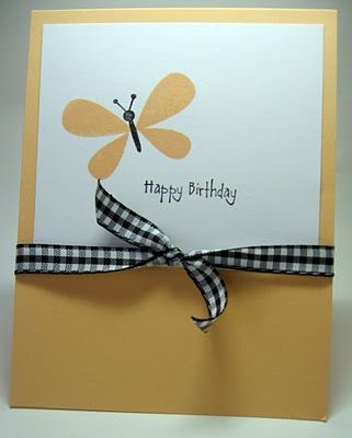 """Happy Birthday. Thinking of You. Just a precious design. Could be used for a little girl, or change the color scheme and use maybe a dragonfly or """"boy-like"""" bug instead."""