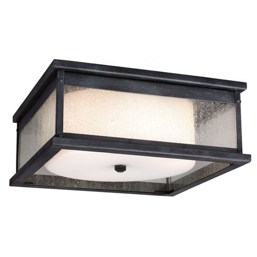 Feiss Pediment Dark Weathered Zinc Three-Light Outdoor Flushmount. Outdoor Ceiling LightsCeiling ...  sc 1 st  Pinterest & 8 best Shallow Overhead Porch Lights images on Pinterest | Outdoor ...