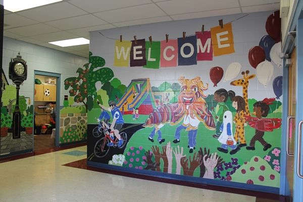 1000 ideas about school murals on pinterest leader in for Elementary school mural ideas