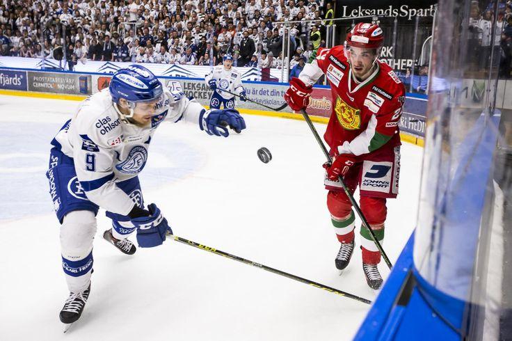 Leksands Lukas Ericsson and Moras Andreas Stene, HockeyAllsvenskan 2015-16 FIGJAM