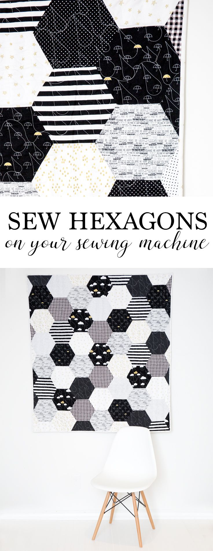 How to Sew Hexagons With a Sewing Machine - Simple Simon and Company