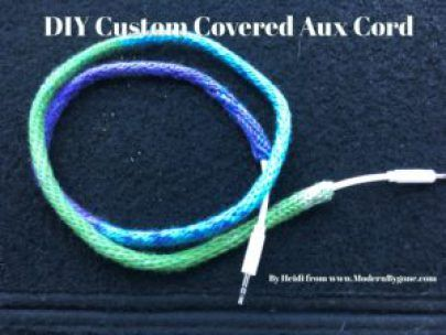 DIY Custom Covered Aux Cord - DIY Craftz
