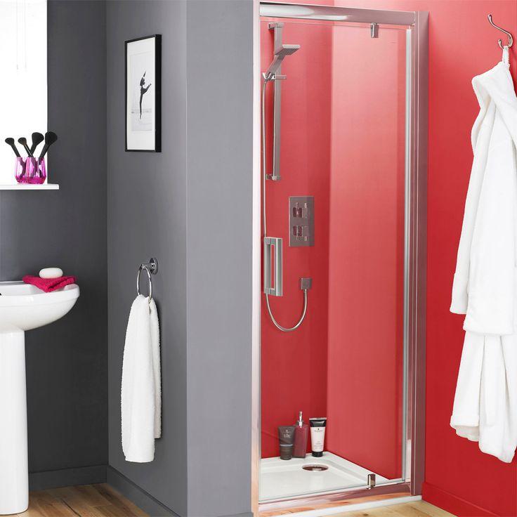 Modena Pivot 8mm Easy Fit Shower Door | From Victorian Plumbing.co.uk £159.95 700mm