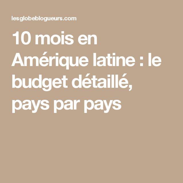 10 mois en Amérique latine: le budget détaillé, pays par pays