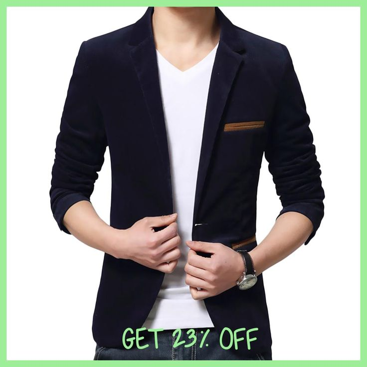 One Button Fitness Corduroy Jackets Men Long Sleeve Office Work Slim Brand Blazers Mens Fashion Plus Size Lapel Coats Black Red
