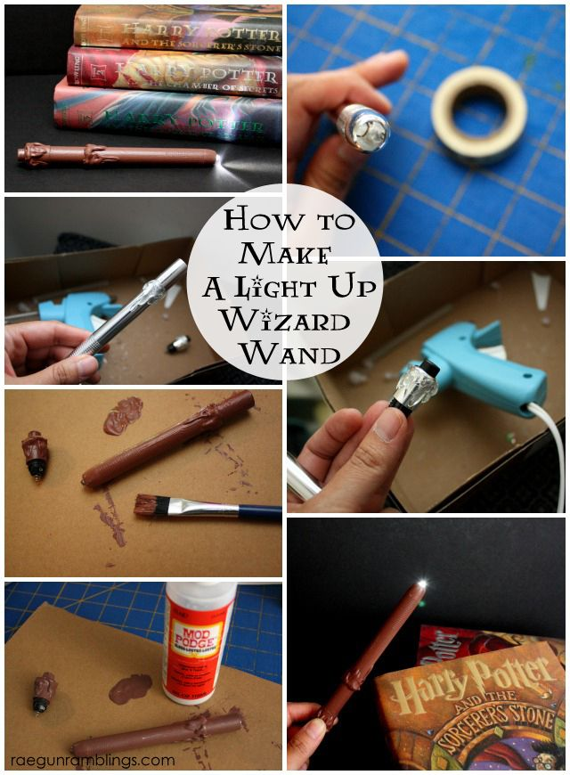 Step by step tutorial for a light up Harry Potter wand. Rae Gun Ramblings - I think I might NEED to make this.