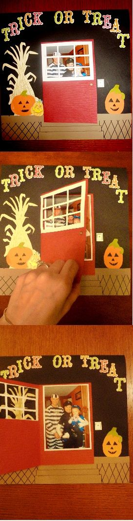 Halloween scrapbook page idea.