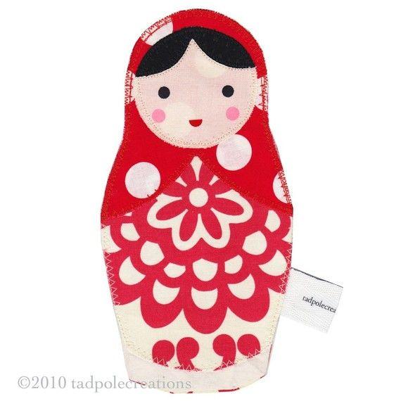 Matryoshka Babushka Russian Cloth Doll for by tadpolecreations, $12.00