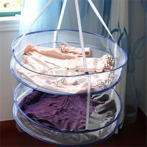2014 New Portable Drying Rack Folding Hanging Clothes Laundry Hangers Practical Dryer Net 2 layers Hot Sell