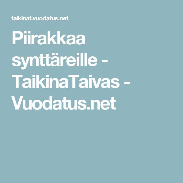 Piirakkaa synttäreille - TaikinaTaivas - Vuodatus.net