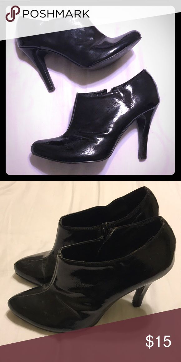 High Heel Booties Gently used, high heeled black booties. Pairs nicely for career or casual look. Charlotte Russe Shoes Ankle Boots & Booties