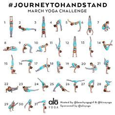 """""""Learn to handstand! Details below:  Announcing the March Yoga Challenge ➡️#journeytohandstand⬅️ Hosts: @kinoyoga & @beachyogagirl Sponsored by: @aloyoga…"""""""