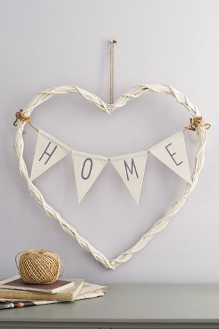 Wicker Bunting Heart from Next