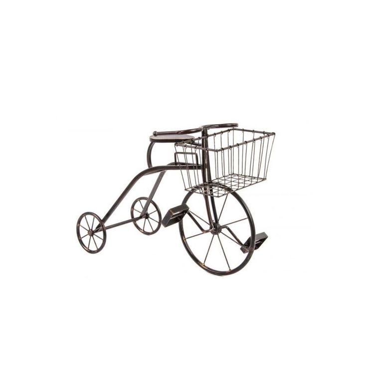 Macetero triciclo metal envejecido 1 cesta estilo for Jardin industrial
