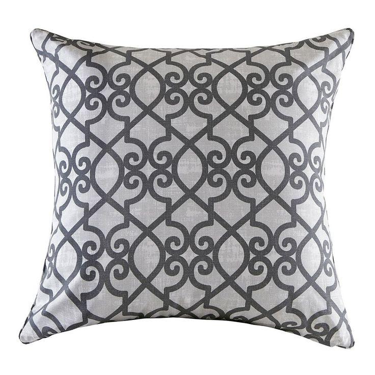 Madison Park 3M Scotchgard Outdoor Large Throw Pillow, Grey