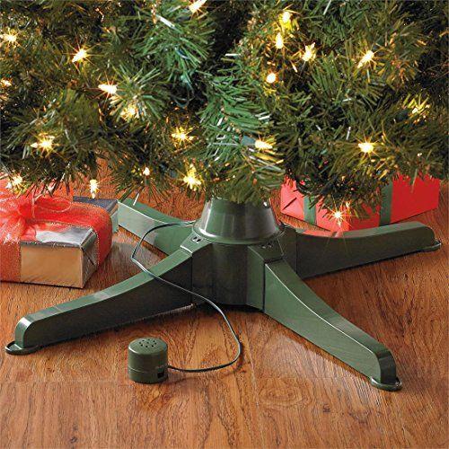 Musical Rotating Christmas Tree Stand: Brylanehome Musical Rotating Christmas Tree Stand Green0
