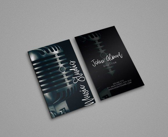 Music Studio Singer Business Card Music Business Cards Business Cards Creative Business Cards Creative Templates