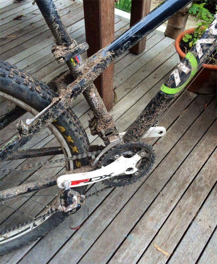 Early testing of the new ByK Kids Mountain Bike - looks like it was a success!