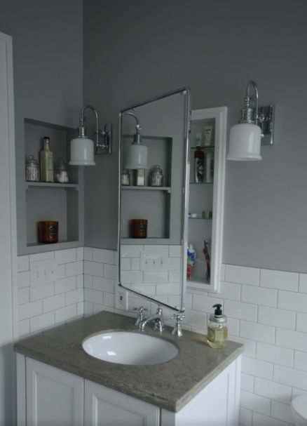94 best images about bathroom niches shelving storage for Bathroom alcove shelves