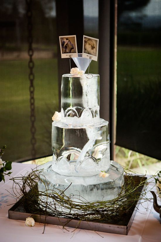 Vodka ice luge wedding cake. Now that's different! Photographer: Chris Garbacz at Epic Photography
