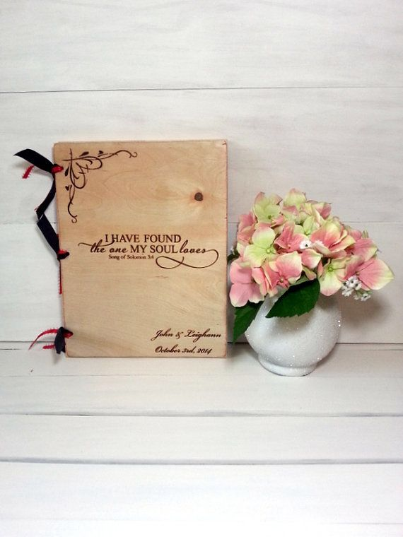 Personalized Wedding Guest Book, Words of Wisdom Book, Bride and Groom, Wedding Present, Wedding Photo Album,