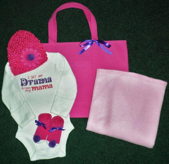 Newborn Baby Girl Onesie Gift Set  Newborn Baby by SugarBearHair