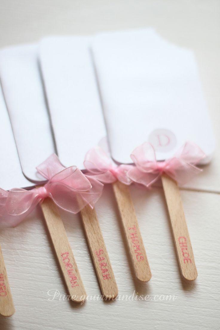 Carte d'invitation pour goûter d'anniversaire de fille en glace esquimau - www.puregourmandise.com/blog/