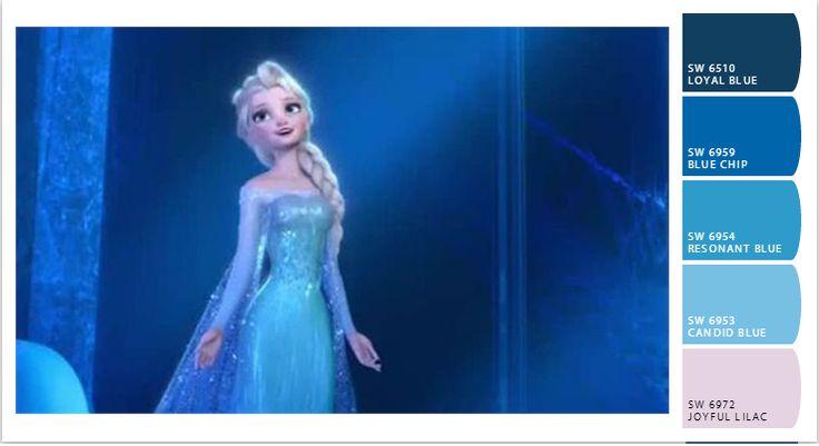 Elsa Frozen color palette | Sherwin Williams letschipit.com