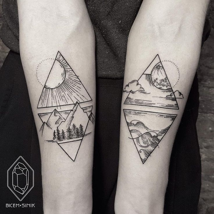 Exquisite Minimalist Geometric Tattoos Turkish tattoo artist Bicem Sinik inks masterful geometric tattoos shape by fine dotted lines to create unique shapes. Her tattoos are paired with shading, soft...