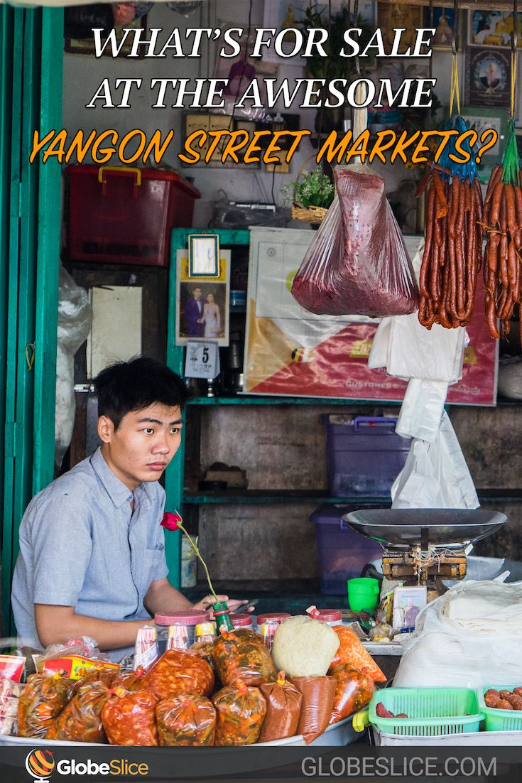 It turns out a whole lot! Especially for the partially covered, non-refrigerated, wooden stalls that make up the long rows of Chinatown's Yangon street markets.