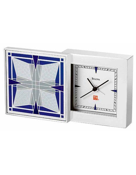 Frank Thomas House Alarm Clock by Bulova - Frank Lloyd Wright Collection