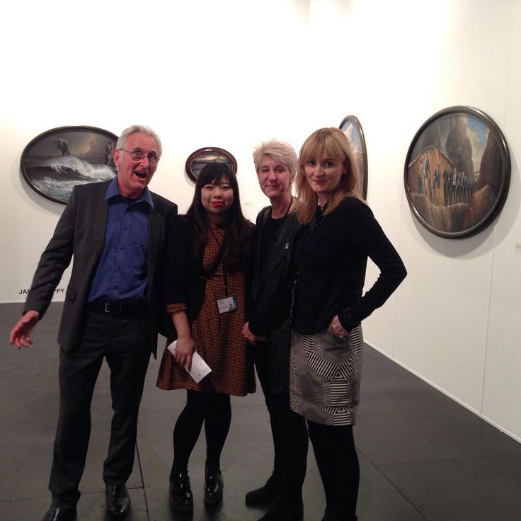 Brenda May with #JamesGuppy, #MylynNguyen, and #NicoleWelch at the VIP preview for #SydneyContemporary @james.guppy @mylyn_eat_zombie @nicolewelchartist @sydneycontemporary