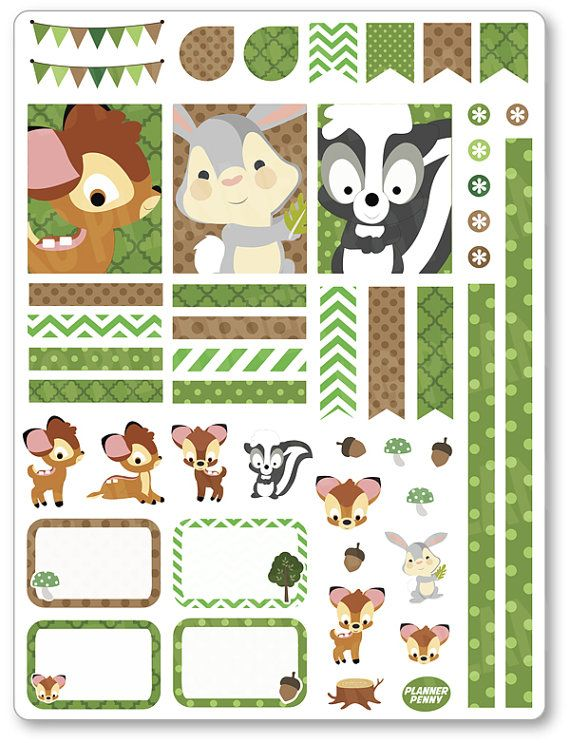 Baby Deer Decorating Kit / Weekly Spread Planner by PlannerPenny                                                                                                                                                                                 Mais