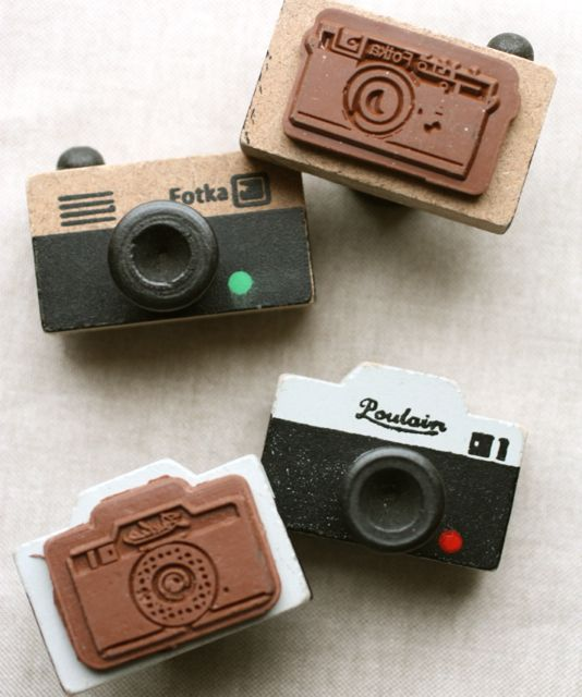 Oh Snap, Camera Rubber Stamps.  So cute!