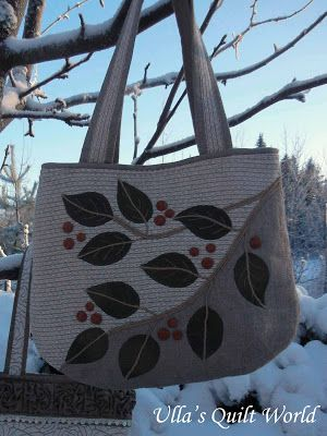 Quilt bag, leafs + PATTERN