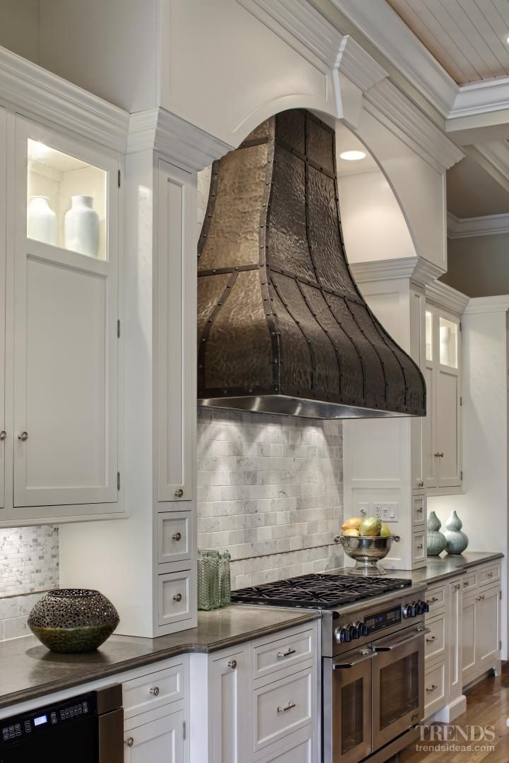 Hood ranges come in all shapes and sizes. This one also peaks our interest for this #kitchen. www.remodelworks.com