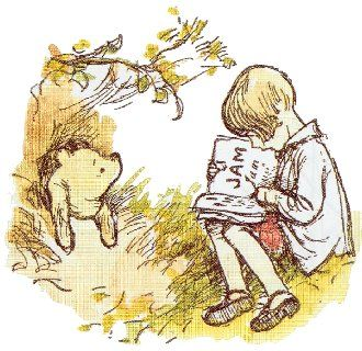 """""""Wherever they go, and whatever happens to them on the way, in that enchanted place on the top of the forest, a little boy and his Bear will always be playing."""" - A.A. Milne"""