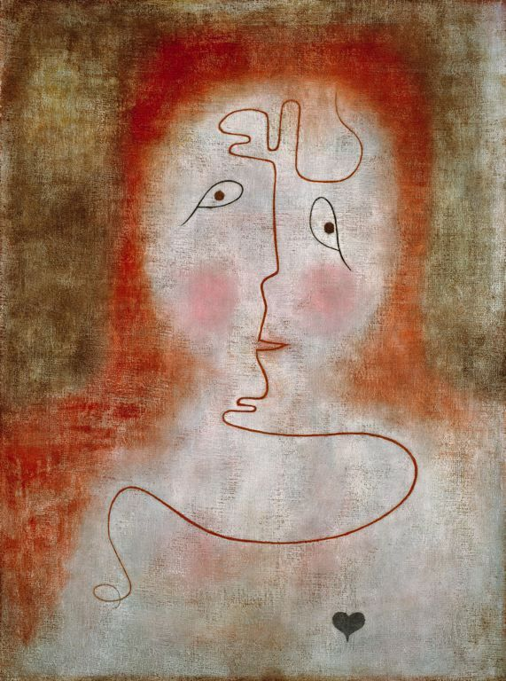 Paul Klee, In the Magic Mirror, 1934, Oil on canvas, on board, Art Institute of Chicago