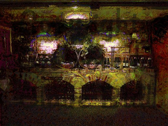 Wine Cellar - Wine - Home Decor - Art print - Photography by Claire Bull