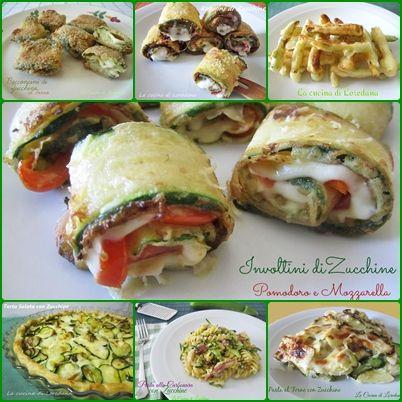 Un insieme di colorate e squisite Ricette con le Zucchine per accontentare tutti in ricette che vanno dall'antipasto ai primi e ai secondi piatti